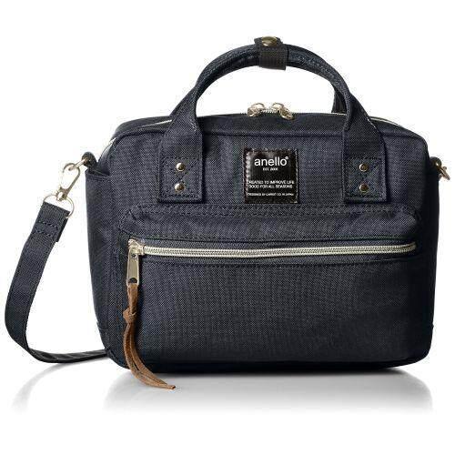 408c1abc5a42 Anello heather polyester canvas mini Boston 2WAY shoulder bag AT-C1223 NV  Navy