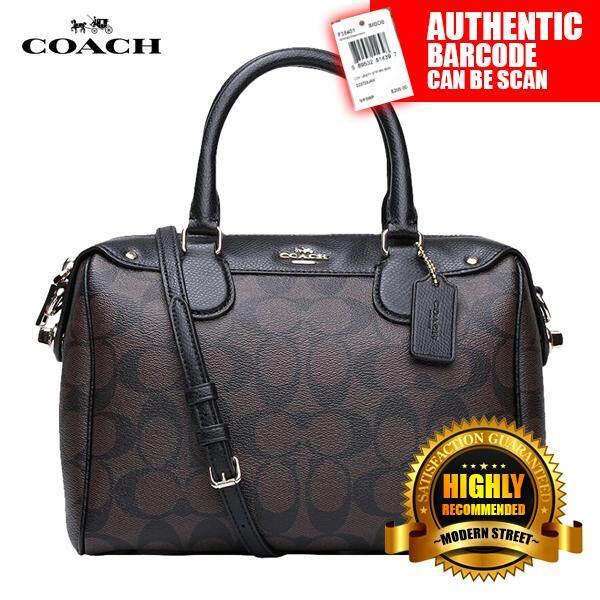 db1b681f5ad43 ... pebble leather back dfb79 d4866  closeout coach f36702 nwt mini bennett  satchel in signature imaa8 black brown e415e 08e3c