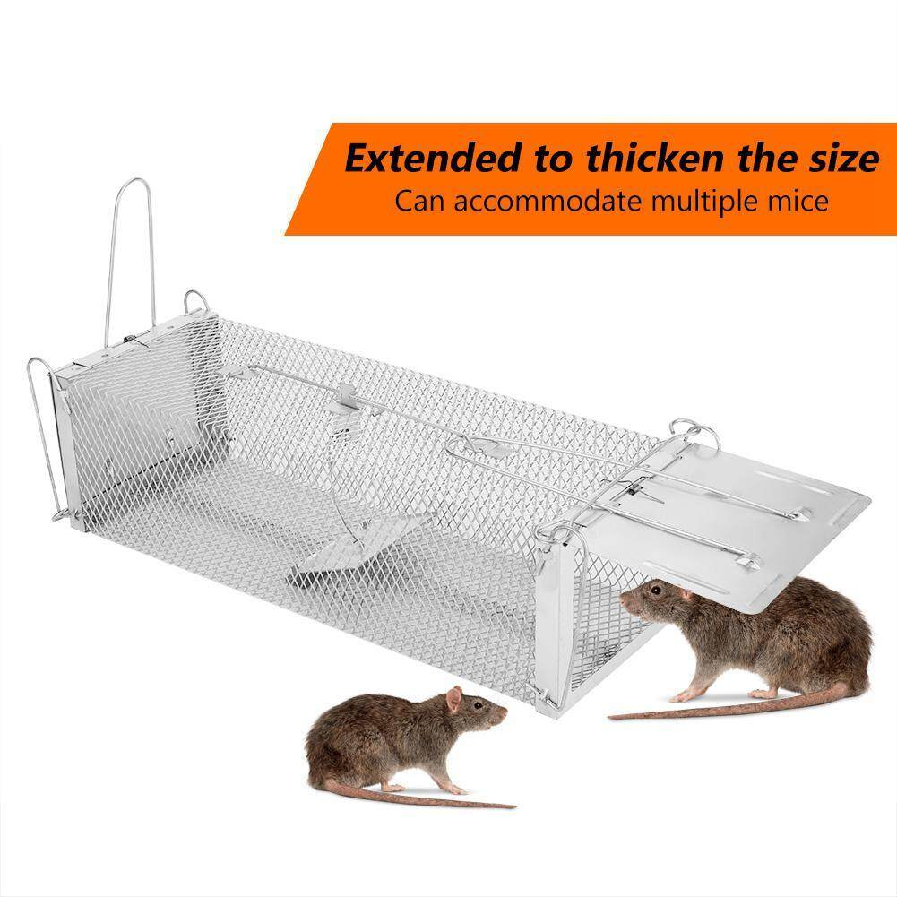 Automatic door lock mousetrap Mouse Mice Rat Rodent Animal Control Catch Bait Humane Live Traps Hamster Cage