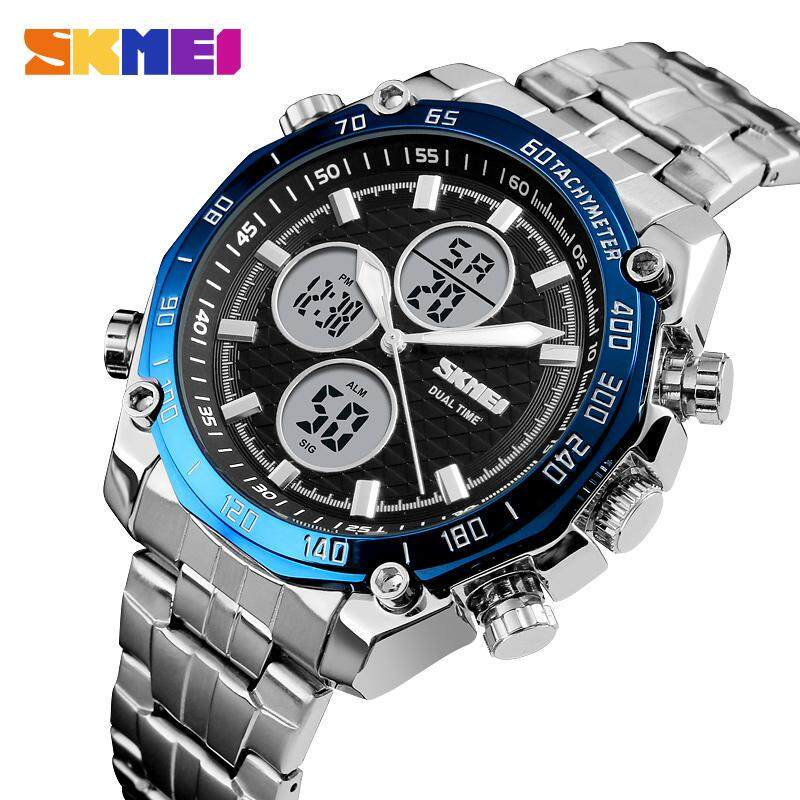 SKMEI Men Fashion Quartz Watches Waterproof Stopwatch Dual Time Luxury Military Business Watch Male Clock 1302 Malaysia