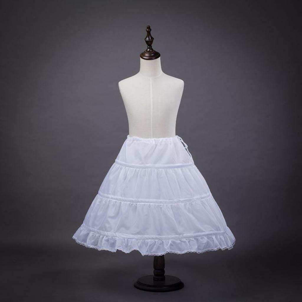Magideal Flower Girl 3-Hoop A-Line Crinoline Petticoat Underskirt Children Age 2-14 By Magideal.
