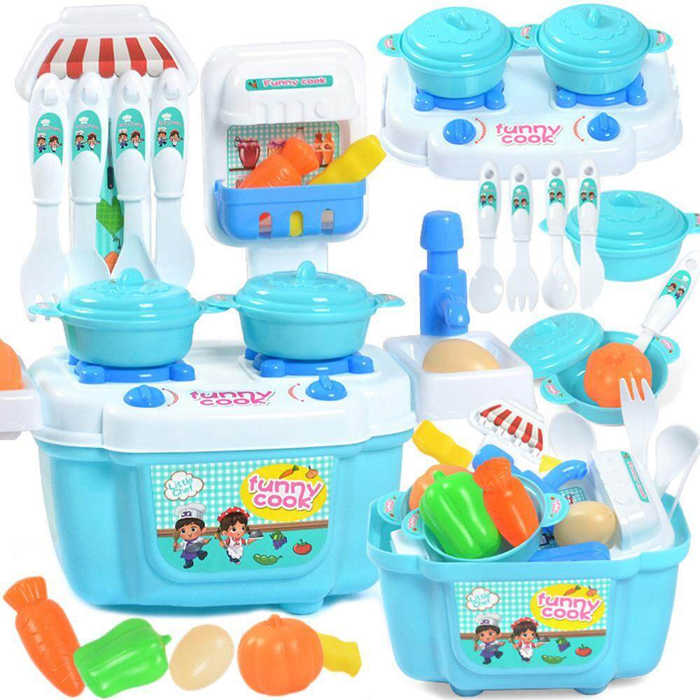 LightSmile Kitchen Cooking Set Girls Boys Fruit Vegetable Tea Playset Toy for Kids Early Age Development Educational Pretend Play Food Assortment Set