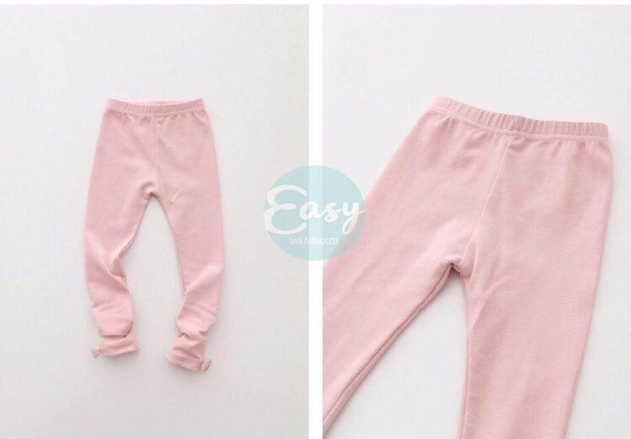Kids Girls Legging Pants With Ribbon By Easy Wearhouse.