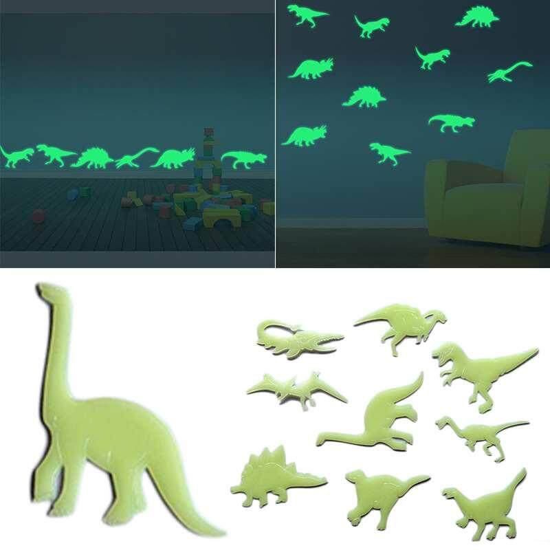 Suke 9pcs Luminous Dinosaurs Stereoscopic Wall Stickers Bedroom Home Decoration By Suke.