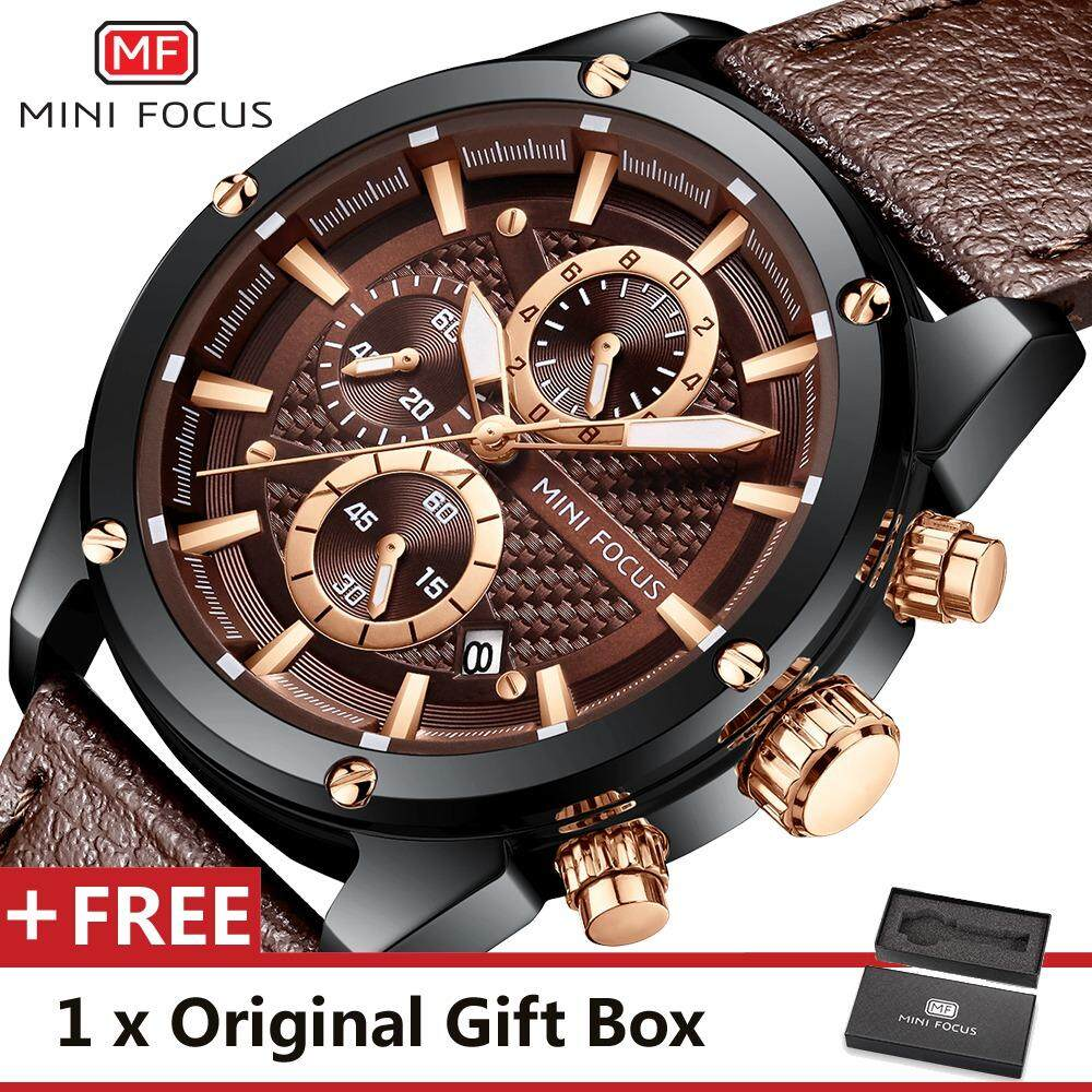 MINI FOCUS Top Luxury Brand Watch Fashion Men Quartz Watches Sports Wristwatch Famous Watch For Male MF0161G.03 Malaysia