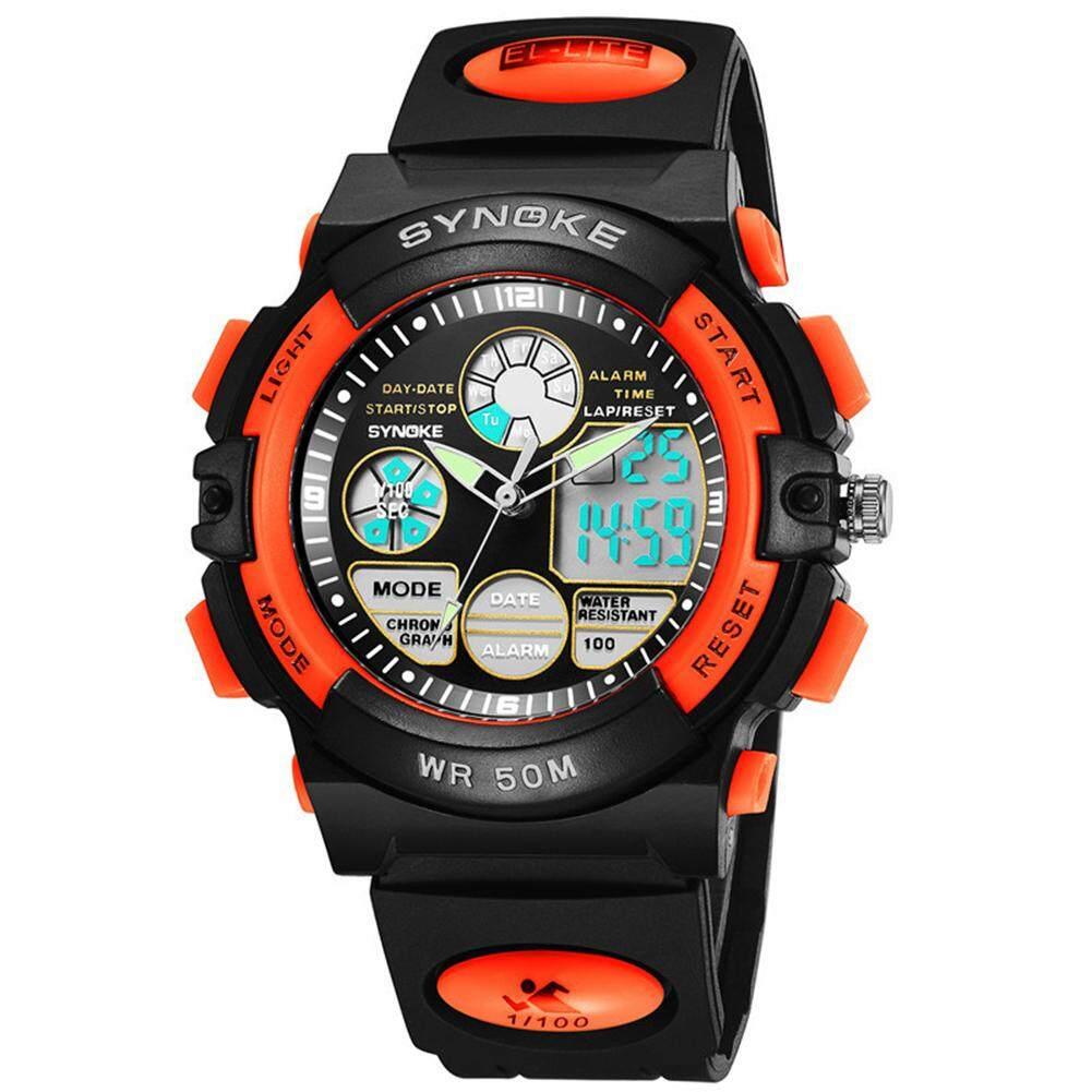 d1da3c9ee Bluelans® Fashion Boy Kids Sports Waterproof Dual Time Zone Digital Analog  Wrist Watch