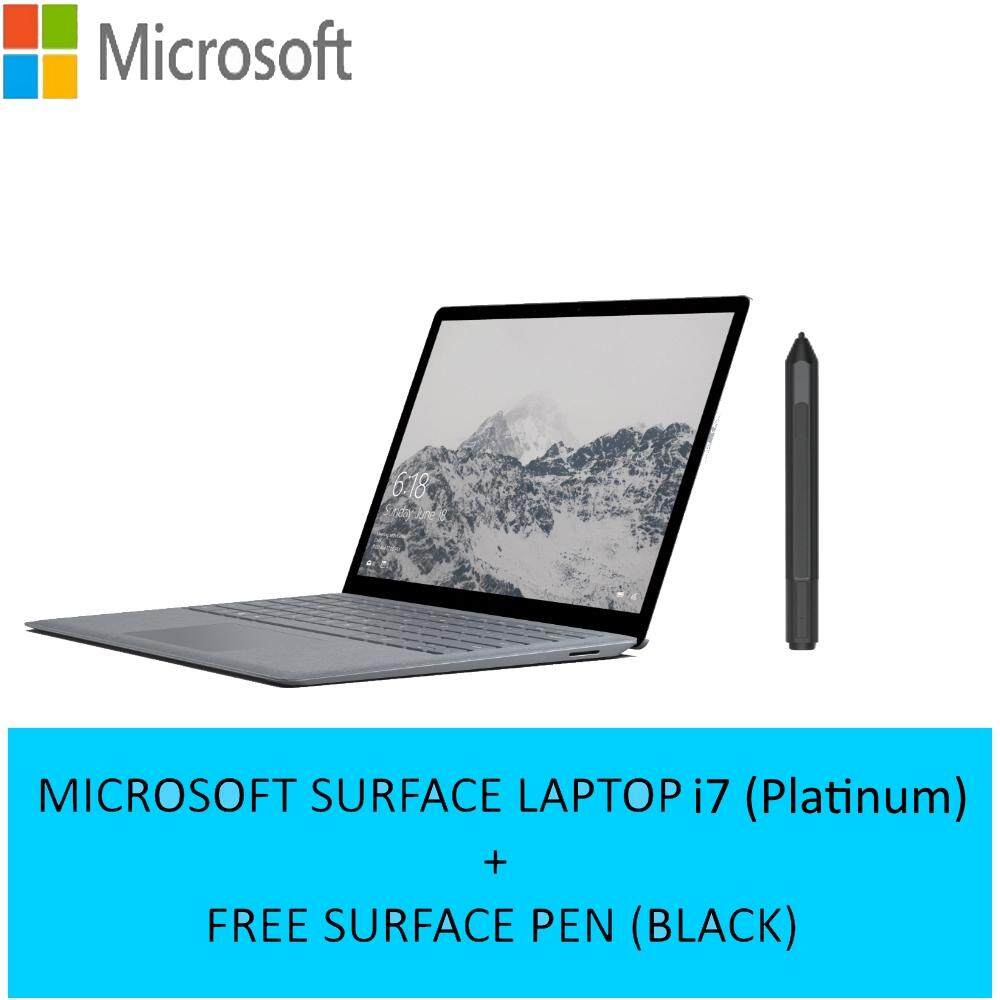 (Bundle) Microsoft Surface Laptop Intel Core i7  16GB Ram  512GB SSD  13.5 Touch Screen - Platinum + FREE SURFACE PEN Malaysia