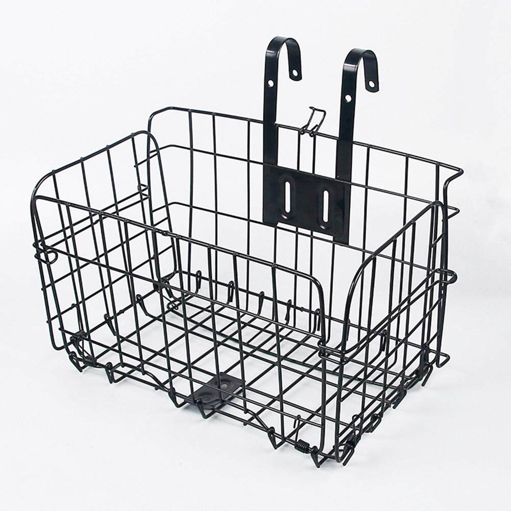 2pcs Detachable Foldable Bike Basket Bicycle Storage Basket for Front Mount