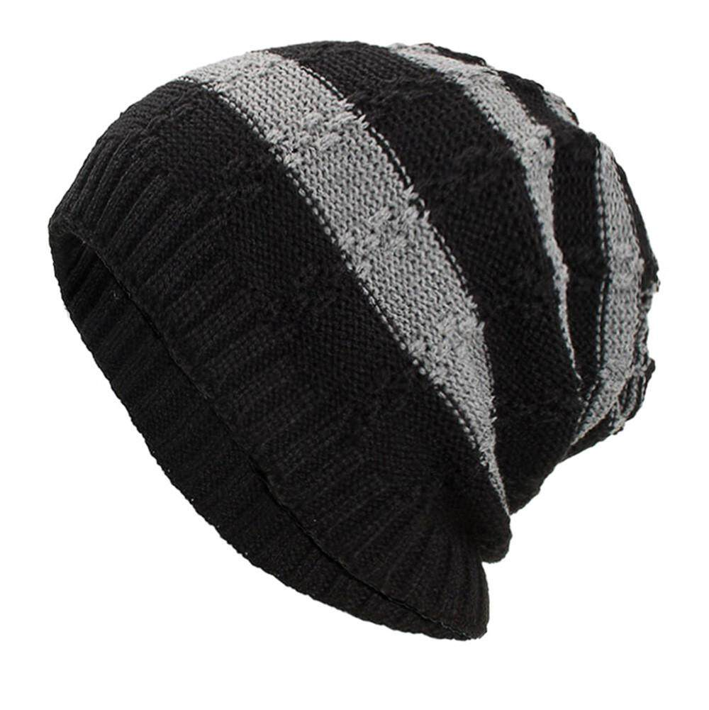 9b148b9325266e Women Men Warm Baggy Weave Crochet Winter Wool Knit Ski Beanie Skull Caps  Hat