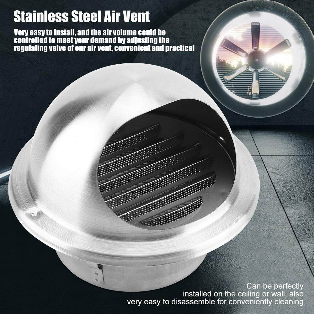 Stainless Steel Adjustable Wall Ceiling Home Air Vent Round Ventilation Duct Cover