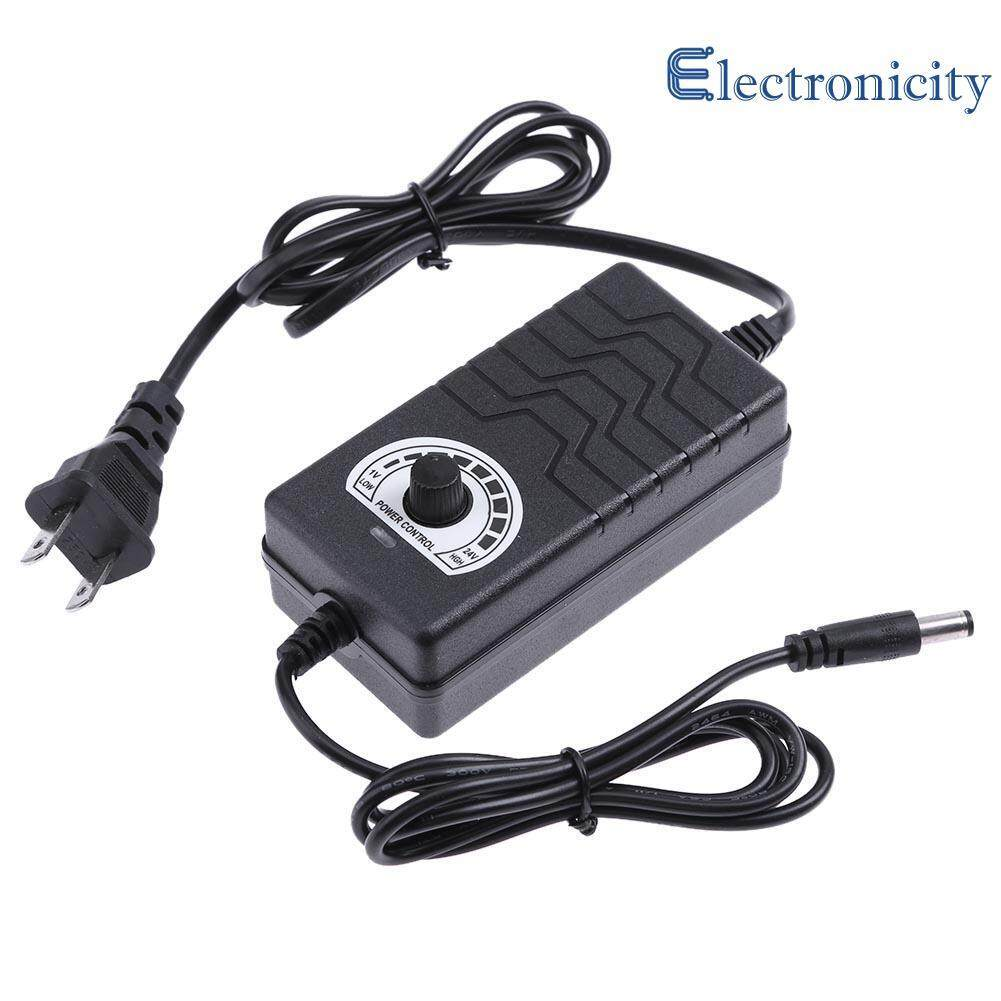 AC to DC Adapter 1 - 24V 2A Adjustable Power Supply Motor Speed Controller ( Black )  - US