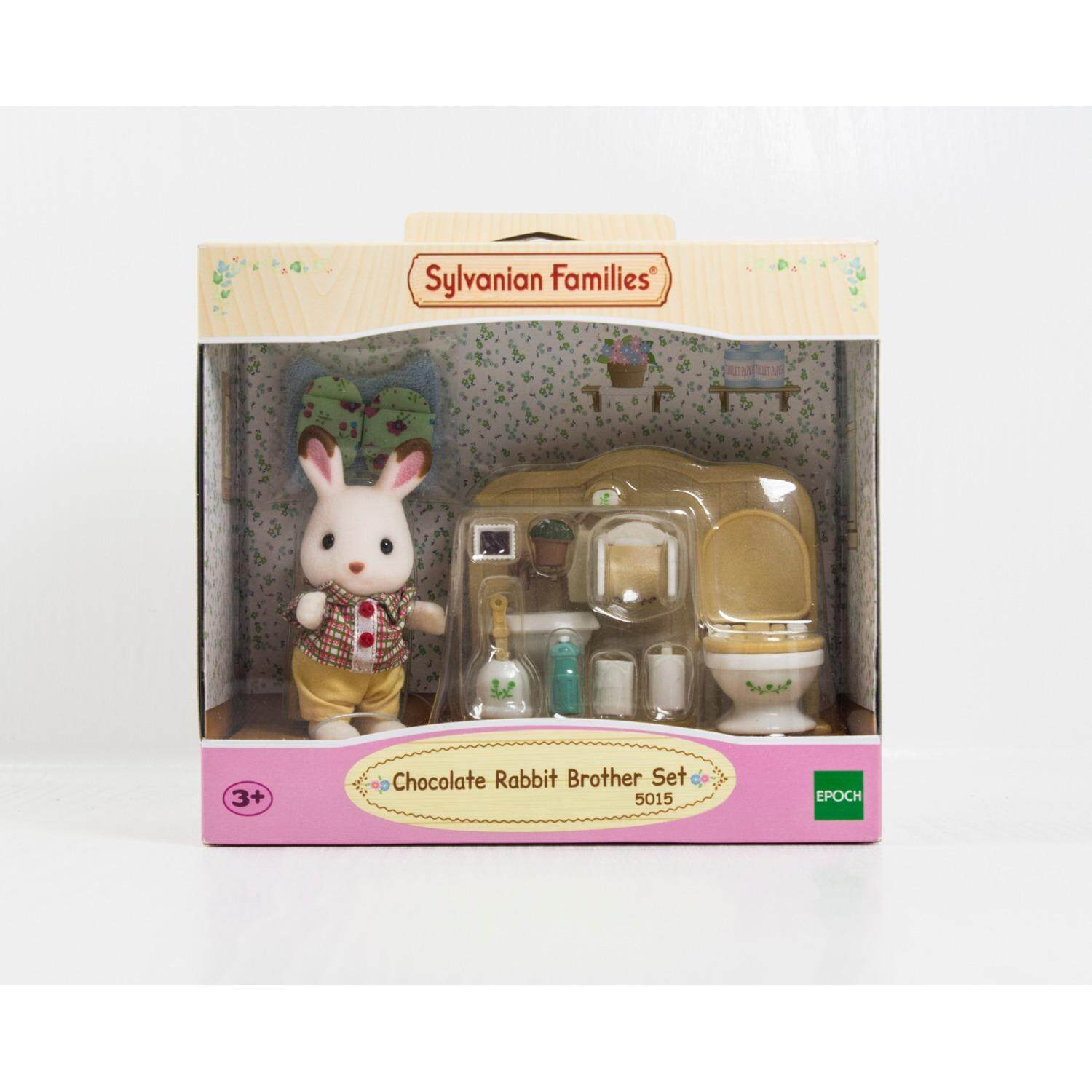 Action Figures Collectibles Buy At Sylvanian Families Bott Ant 9 Chocolate Rabbit Brother Set
