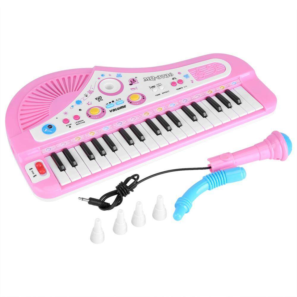 Kid Electronic Keyboard Piano With Microphone 37 Keys Educational Instrument Toy Baby Gift By Eleganthome.