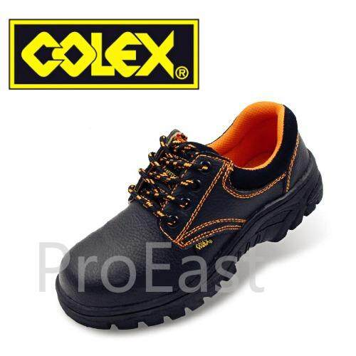 Colex Zz200 Uk 9 Steel Toe Cap Mid Sole Low Cut Safety Shoes / Kasut Inustrial 9 (black) By Proeast.