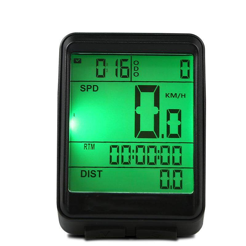 Bicyle Speedometer Bike Bicycle Waterproof High-Precision High-Definition Display Night Glow Computer Odometer Mtb Bike Stopwatch Wired/wireless 2 Types Specification:english Black Shell Wired By Outdoor Lizard.
