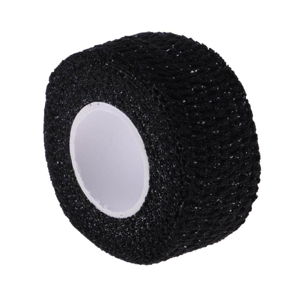 Miracle Shining Anti-Skid Adhesive Golf Sport Golfer Finger Wrap Grip Compression Tape Black By Miracle Shining.