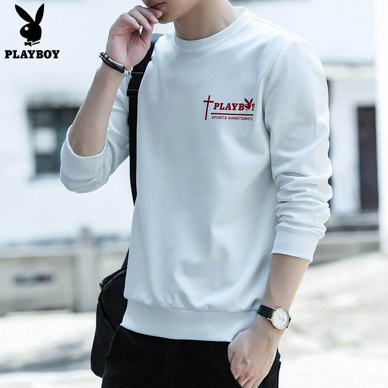 b52bddce6 Play Boy 2018 Fashion Men's Round Neck Long Sleeve Casual T-shirt
