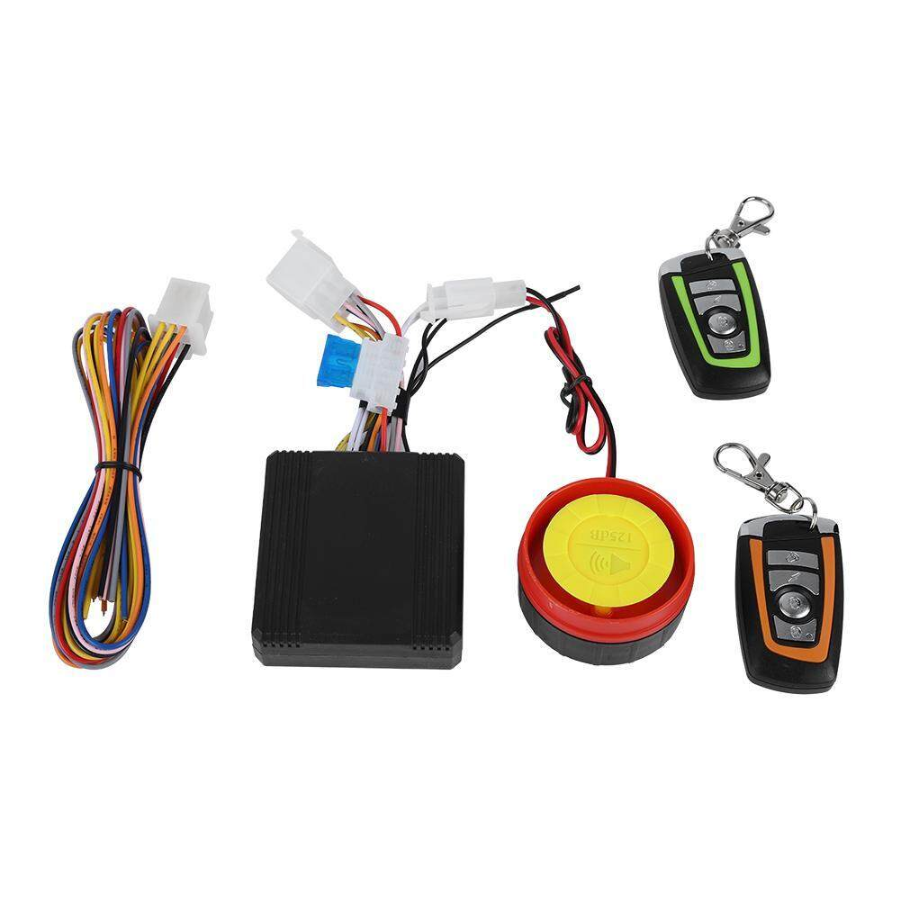 12V Motorcycle Anti-theft Security Alarm System Remote Control Engine Start Universal