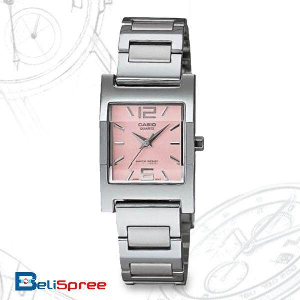 Casio ENTICER LTP-1283D-4AV Stainless Steel Band Womens Watch Pink Malaysia