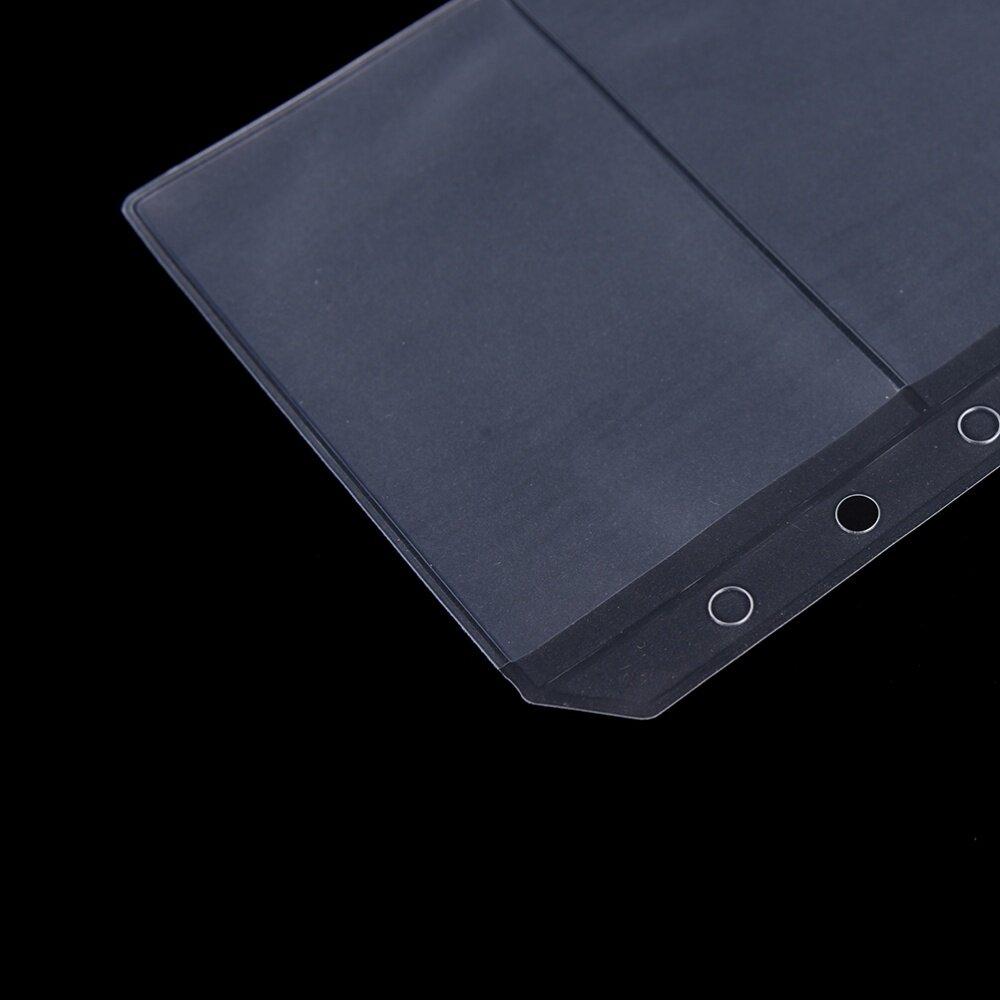 cdc3f2820a27 A5 Pocket Refill Organiser Stationery U9 Transparent Zip Lock Envelope  Binder A5 Zipper