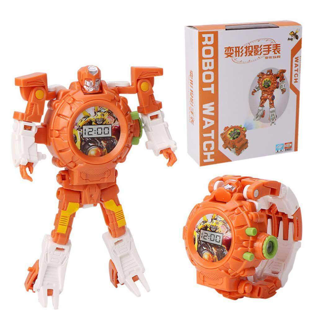 Pawaca Transform Toys Robot Watch, 3 in 1 Projection Kids Digital Watch Deformation Bots Toys,Creative Educational Learning Xmas Toys for 3-12 Years Old Boys Girls Gifts Malaysia