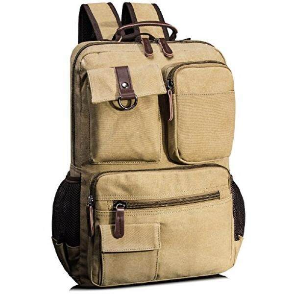 Leaper Vintage Cool Canvas Laptop Backpack Rucksack for College School Travel Daypack Shoulder Bag Malaysia