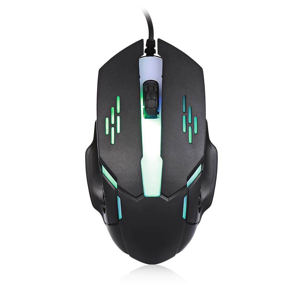 [Local Shipping] Fashion Wired Mouse 3 Keys Colorful LED Light for Game and Office Malaysia