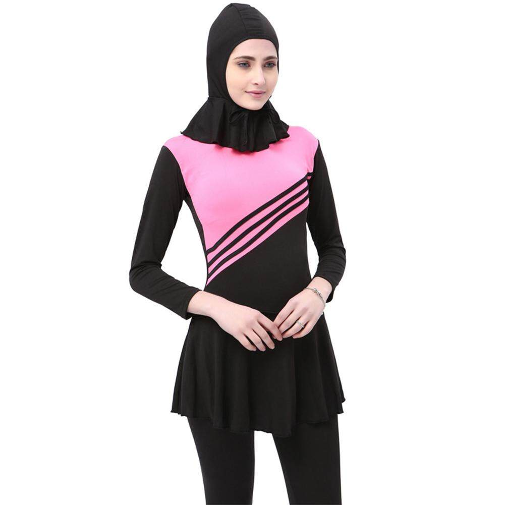 bf28dab363ce7 Modest Muslim Women Islamic Summer Full Cover Swimwear Ladies  Swimming  suit Hijab Swimsuits Muslim Bathing