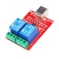 Miracle Shining 5V 2-Channel USB Relay Module Computer USB Control Switch  Free Driver 6407692759b7