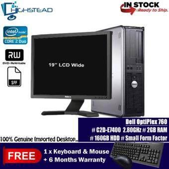 DELL 760 C2D E7400 2.80GHz 2GB 80GB +19 LCD Wide Refurbished
