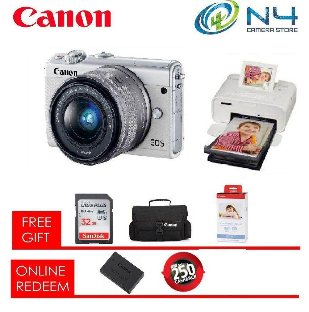 Canon Mirrorless Cameras For The Best Prices In Malaysia Eos M10 Ef M 15 45mm Is Stm White M100 16gb Bag Cp1300