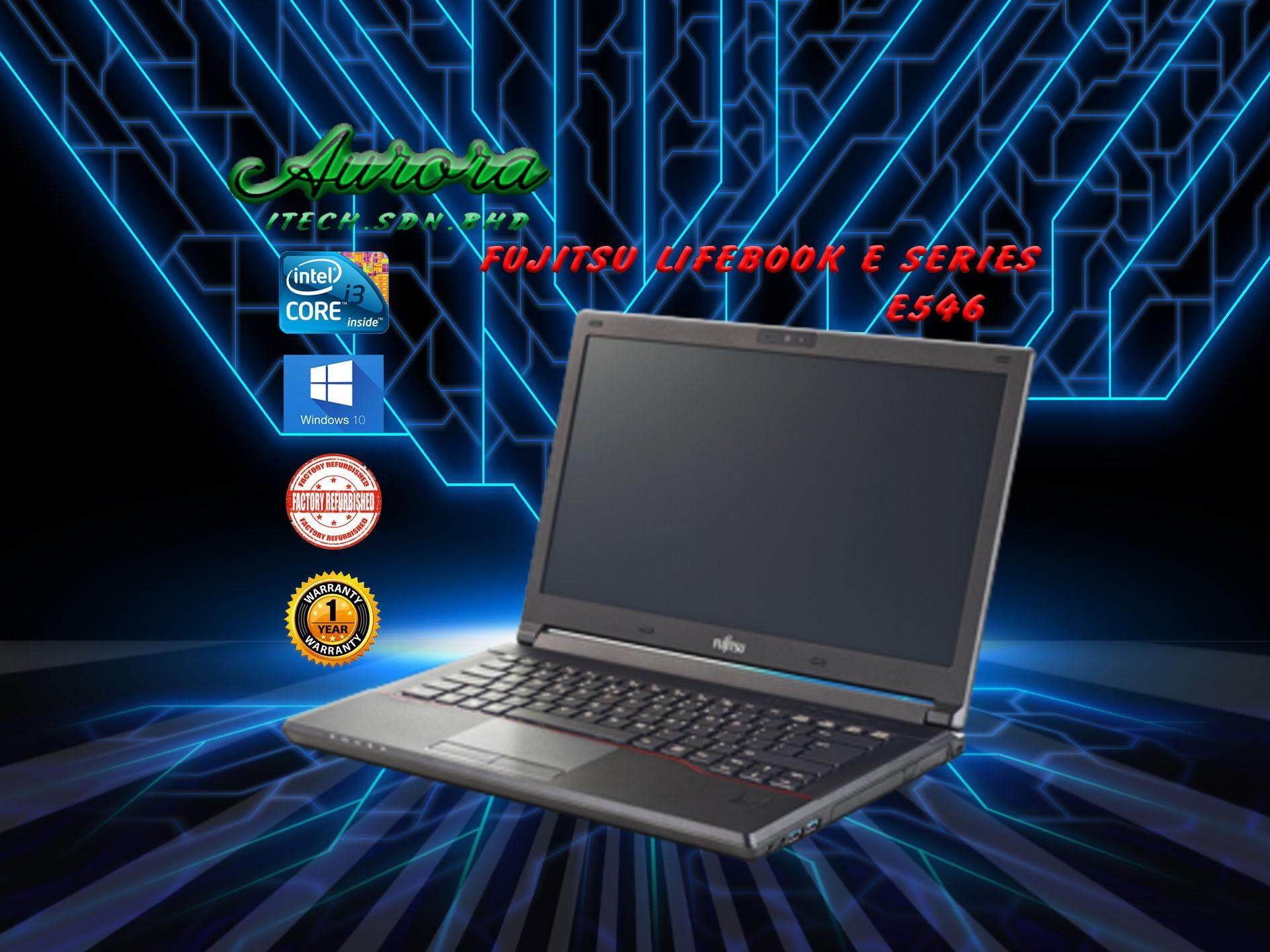 (REFURBISHED)Fujitsu Lifebook E546 / Intel® Core™ i3-6100U Processor / 8 GB DDR3 RAM / 128 GB SATA SSD / 14.1Inch / 1 YearWarranty,Free Mouse Malaysia