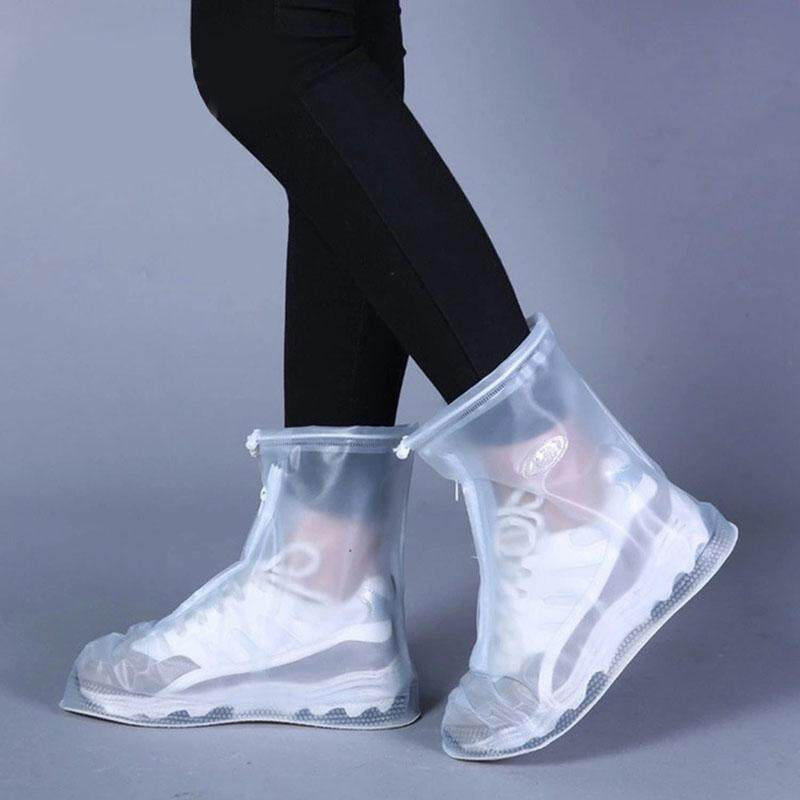 Rain Boots Covers Reusable Waterproof Overshoes Shoes Covers Protectors Slip-Resistant For Men Women(white) By Rytain.