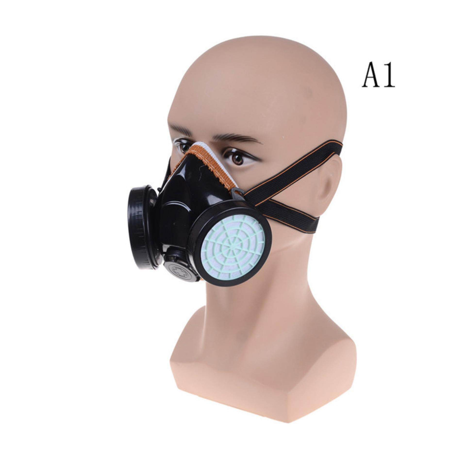 Pinellia flowers Anti-Dust Spray Chemical Gas Safety Dual Cartridge Respirator Paint Filter Mask  Dust mask