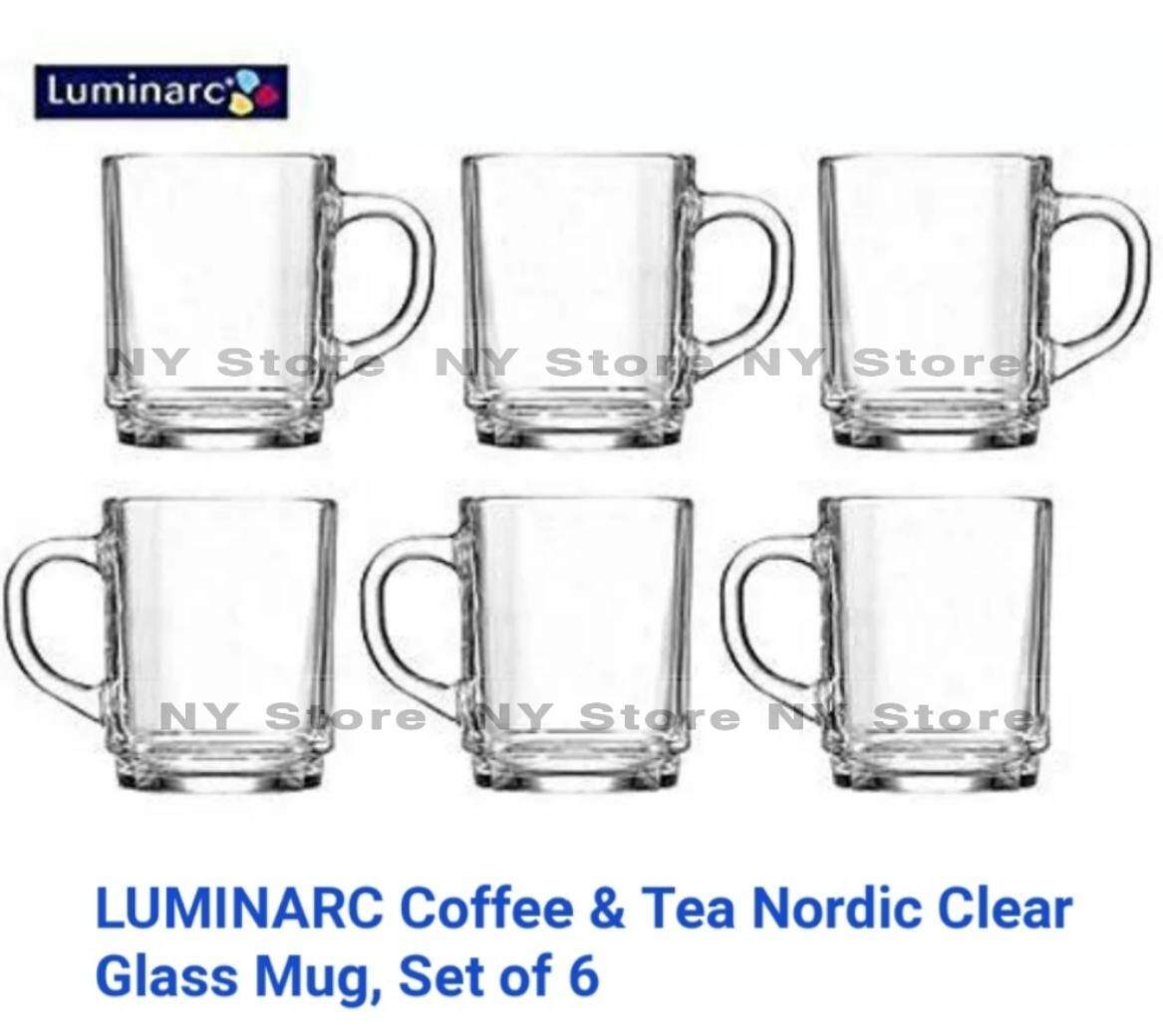 Luminarc Arc Nordic Clear Glass Cups Mugs 250ml - (6 pcs)