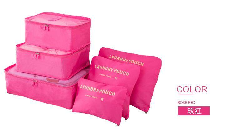 Travelling 6pcs Organizer Storage Bag By Gogo Cafe.