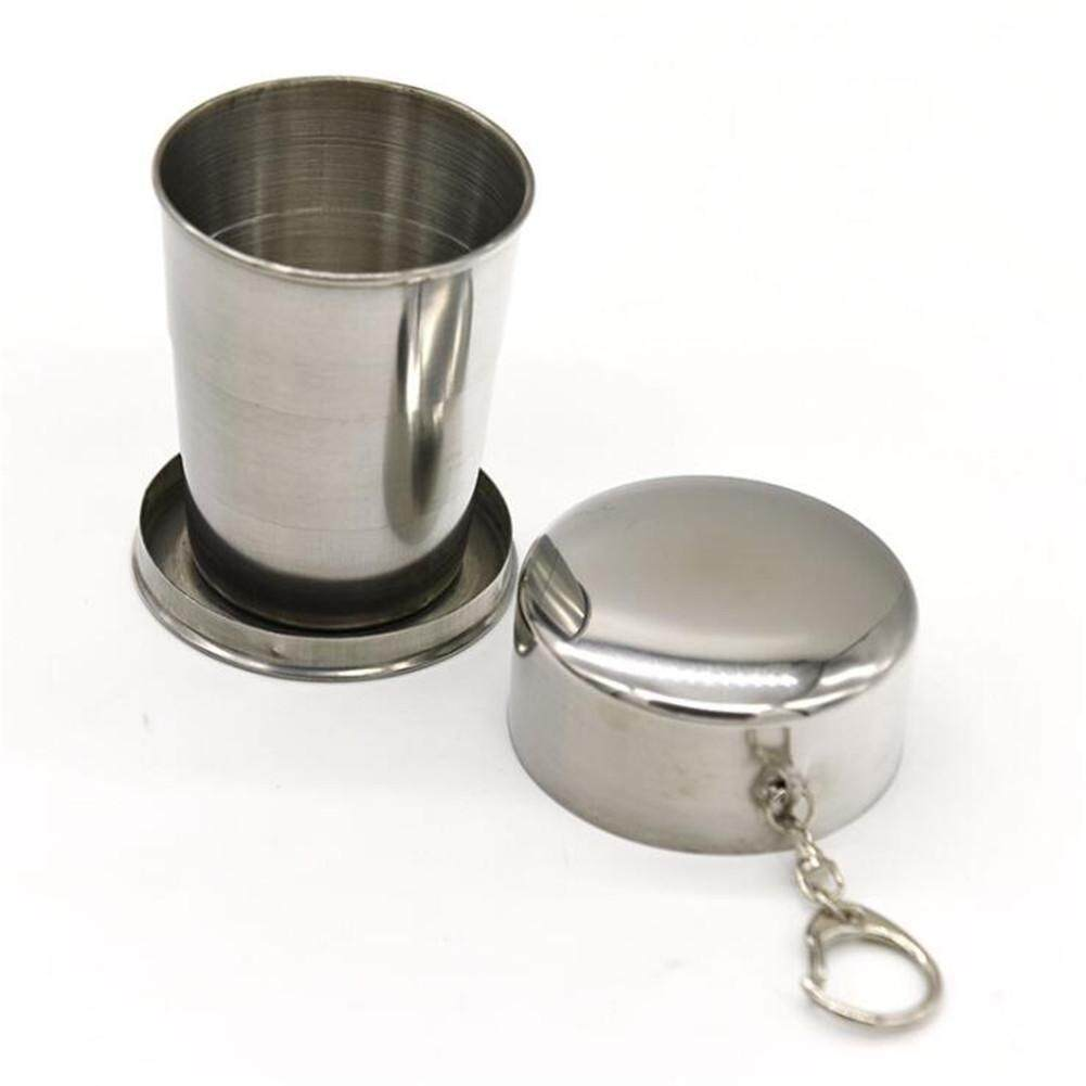 Szwl Stainless Steel Outdoor Travel Folding Cup Portable Collapsible Mug For Camping Hiking By Szwl Trade.