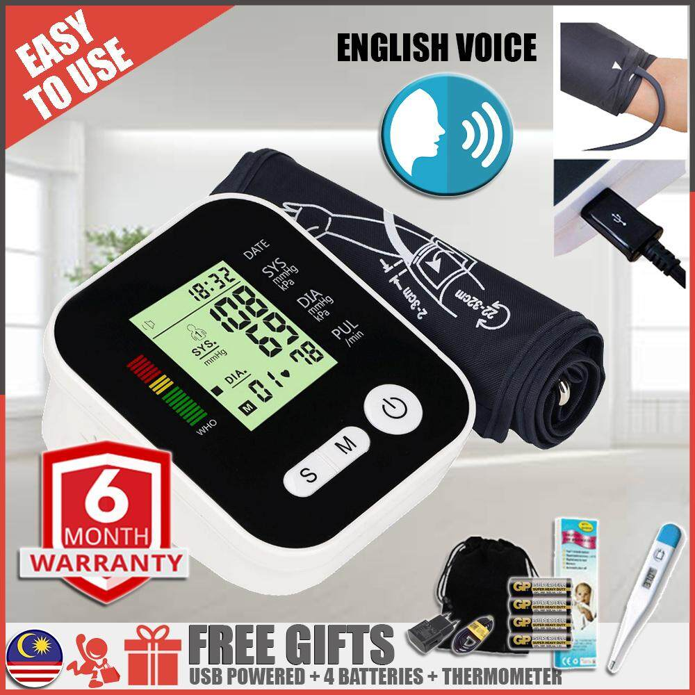 Blood Pressure Monitor Machine With Best Price In Malaysia Tensimeter Digital Sphygmomanometer Portable Alat Pengukur Tekanan Darah Jantung Automatic Heart Rate Tracker 5in1 Usb Powered High