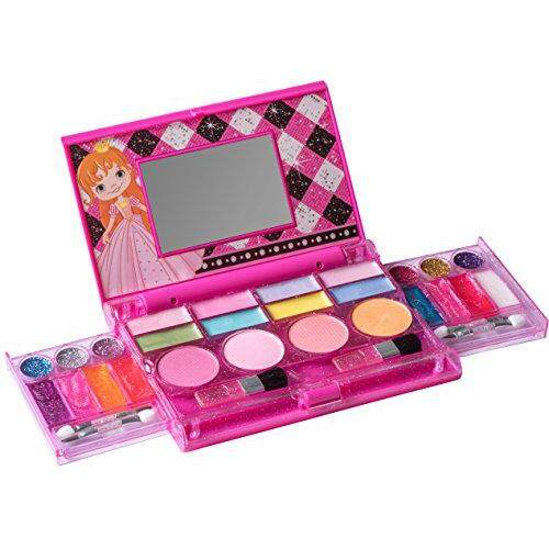 Playkidz: My First Princess Makeup Chest, Girls All-In-One Deluxe Cosmetic  And Real Makeup Palette With Mirror (washable) By Cross Border