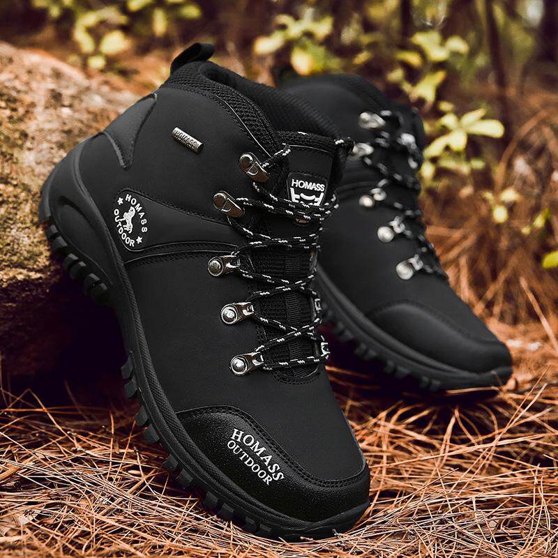 ee32dc495833 Men s Skid Resistance Hiking Shoes Waterproof Mountain Boots Climbing Shoes  Men Large size shoes