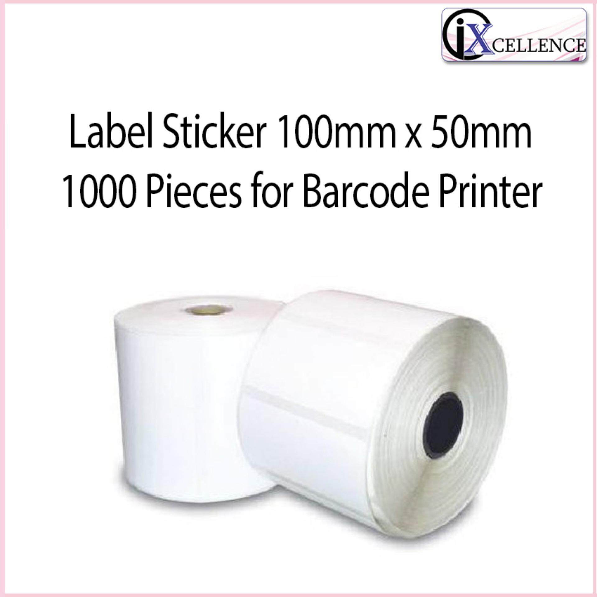 [ix] Label Sticker 100mm X 50mm X 1000 Pieces For Tsc Barcode Printer (white) By Ixcellence.