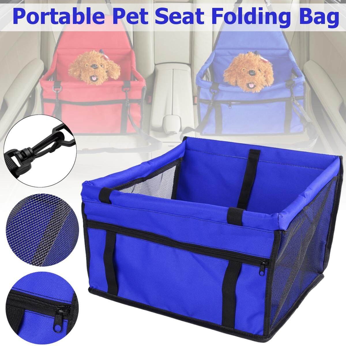 Portable Pet Car Seat Folding Travel Booster Bag Safely Carrier Belt Dog Puppy (blue) By Freebang.