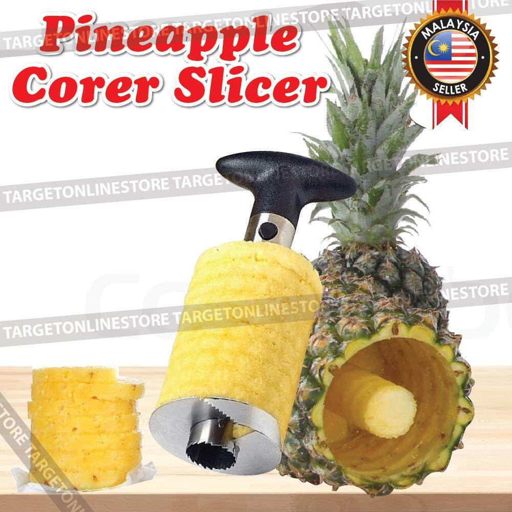 Fruit Pineapple Corer Slicer Peeler Cutter Kitchen Tool Spiral Steel By Target Online Trading.