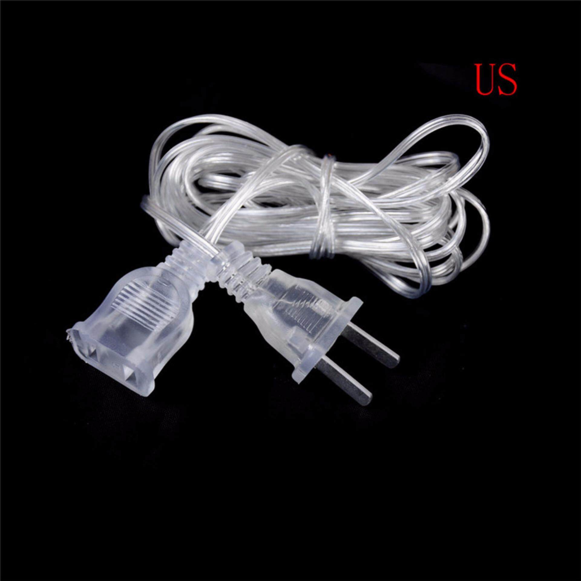 Mecola Plastic Male To Female Power Supply AC Adapter LED Extension Cord Cable