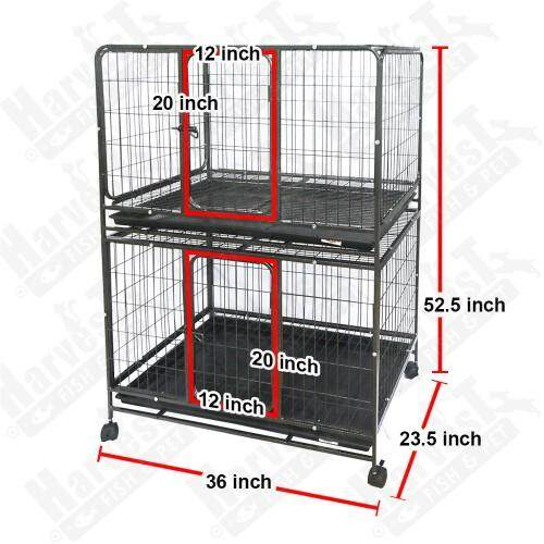 Steel Dog Cat Cage D2322 Double Storey By Kemahsokmo Cat Station.