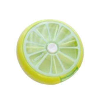 Paling Murah Cute Fruit Pattern Round 7 Day Tablet Pill Weekly Boxes