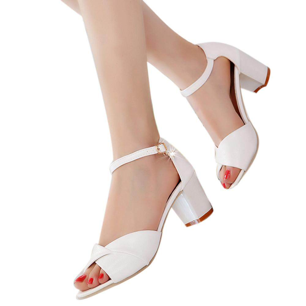 08efe5019e0e GUO Women Ankle Strap Heels Sandals High Heel Sandals Sandal Party Open Toe  Shoes