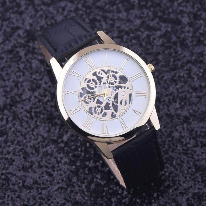 Rome Digital Leather Band Analog Dial Quartz Wrist Watch Black radocie Malaysia