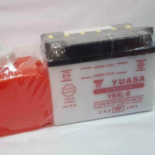 Yuasa Battery • (yb4l-B) Honda Ex5/dream/fame/wave-100 By K.k Motorspareparts.