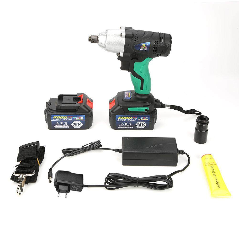 Brushless Cordless Impact Wrench 36VF/6000mAh Lithium Battery Power Tool Kit(220V EU plug)